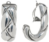 Simon Sebbag Sterling Silver Braided J Hoop Clip-On Earrings