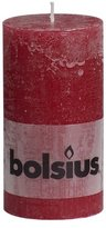 Rustic 103867590344 Pillar Candle, Paraffin Wax, Wine Red