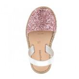 Minorquines - Pink Glitter Avarca Sandals - 37