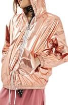 Topshop Women's Metallic Windbreaker
