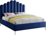 Everly Sonette Upholstered Flatform Bed Quinn Color: Navy, Size: Twin