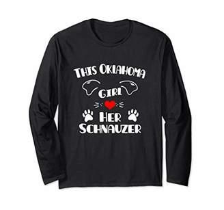 This Oklahoma Girl Loves Her Schnauzer Long Sleeve T-Shirt