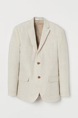 H&M Slim Fit Linen Blazer