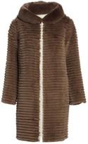 The Fur Salon Reversible Rabbit Fur Hooded Jacket
