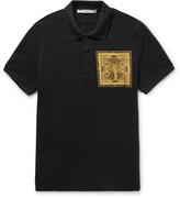 Givenchy - Slim-fit Cobra-appliquéd Cotton-piqué Polo Shirt