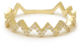 MINED 14k Gold & Diamond Zig-Zag Ring, Assorted Colors