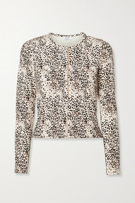 Leset Jamie Ribbed Leopard-print Stretch-modal Cardigan - Leopard print