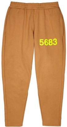 Willy Chavarria X Hummel Hustler brown cotton-blend sweatpants