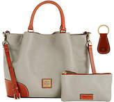 Dooney & Bourke Pebble Leather Brenna Satchelw/ Accessories