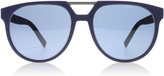 Dior Homme 0199s Sunglasses Blue/black Rubber Emc 55mm