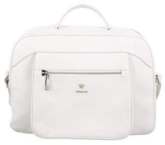 Versace Vitello Leather Satchel