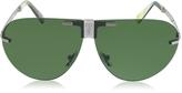 Ermenegildo Zegna EZ0015 Metal Folding Aviator Men's Sunglasses
