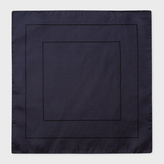 Paul Smith Men's Navy Concentric Square Pattern Silk Pocket Square