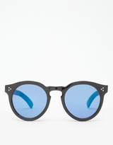 Illesteva Mirrored Leonard II in Black/Blue
