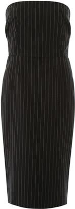 Dolce & Gabbana Pinstriped Bustier Dress