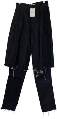 Ksenia Schnaider Anthracite Cotton Jeans for Women