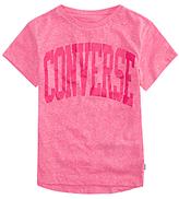 Converse Girls' Collegiate T-Shirt, Pink
