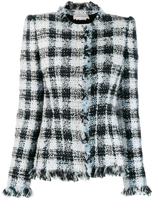 Alexander McQueen Boucle fitted jacket
