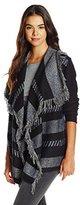 Ella Moss Women's Robin Fringe Stripe Cardigan Sweater
