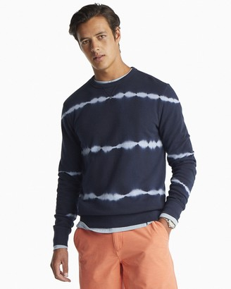 Southern Tide Tie Dye Striped Upper Deck Pullover Sweater