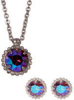 Sorrelli Petite Framed Crystal Earrings & Pendant Necklace Set