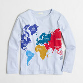 J.Crew Factory Factory boys' long-sleeve world map storybook tee
