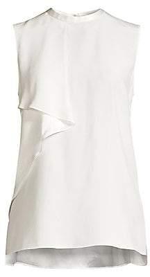 Elie Tahari Women's Whitney Sleeveless Ruffle Silk Blouse
