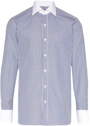 Tom Ford Stripe Contrast Collar Shirt