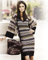 Metallic sweater dress