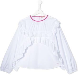 No.21 Kids TEEN ruffled cotton blouse