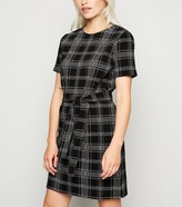 New Look Petite Jersey Check Belted Tunic Dress
