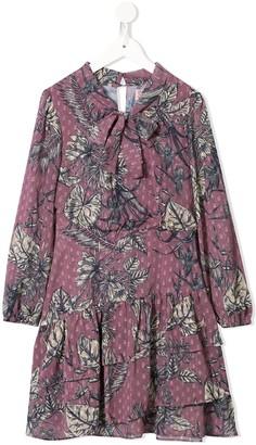 Marchesa Notte Mini Butterfly Print Dress