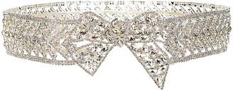 Raisa Vanessa RAISA&VANESSA Ribbon Crystal Belt in Silver | FWRD