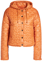Oui Quilted Reversible Jacket, Dark Orange
