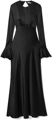 Les Rêveries Open-back Silk-satin Maxi Dress