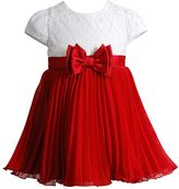 Youngland Toddler Girl Lace Bodice Pleated Skirt Dress