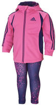 adidas Girls 2-6x Two Piece Hooded Tricot Hooded Jacket and Leggings Set