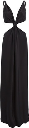 Dion Lee Loop Knot Mulberry Silk Gown