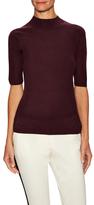 Halston Keyhole Mock Neck Sweater
