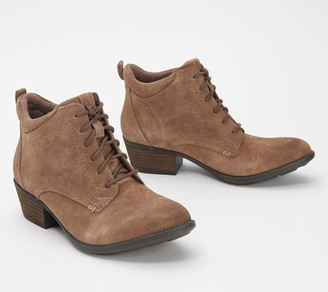 Earth Suede Lace-Up Ankle Boots - Peak Provo