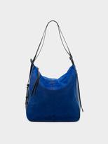 DKNY Haircalf And Leather Hobo Convertible Bag