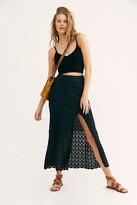 Free People Bari Column Skirt by Free People, Washed Black, XS