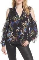 Parker Women's Elana Floral Ruffle Silk Blouse