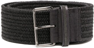 Brunello Cucinelli Woven Wide Waist Belt
