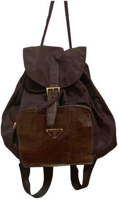 Prada \N Brown Crocodile Backpacks