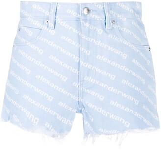 Alexander Wang Bite High Rise denim shorts