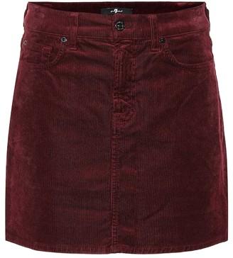 7 For All Mankind Corduroy miniskirt