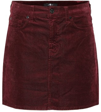 7 For All Mankind Corduroy miniskirt