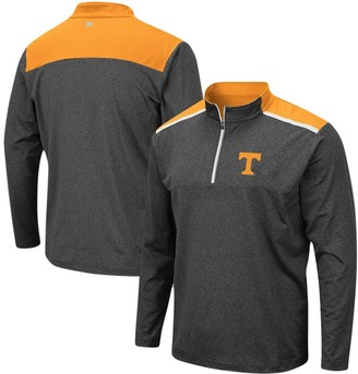 Colosseum Men's Heathered Charcoal Tennessee Volunteers Big & Tall Snowball Quarter-Zip Pullover Jacket