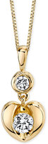 Sirena Energy Diamond Heart Pendant Necklace in 14k White or Yellow Gold (1/4 ct. t.w.)